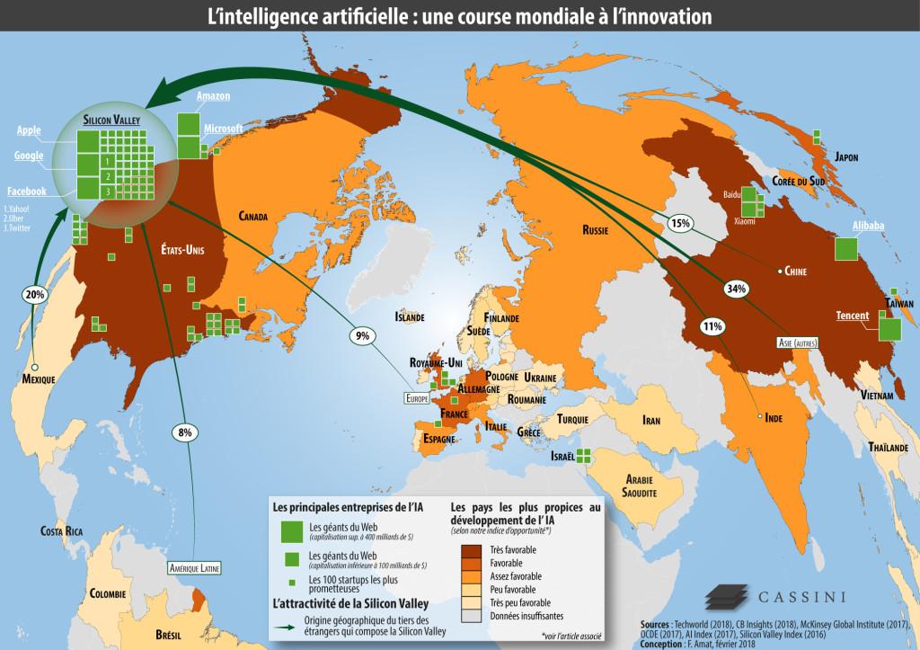 Carte. geopolitique intelligence artificielle